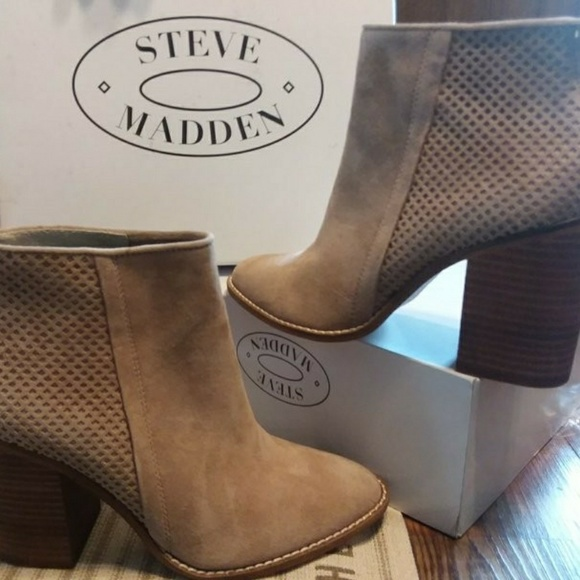 649fd7aef5d STEVE MADDEN Replay Taupe Booties